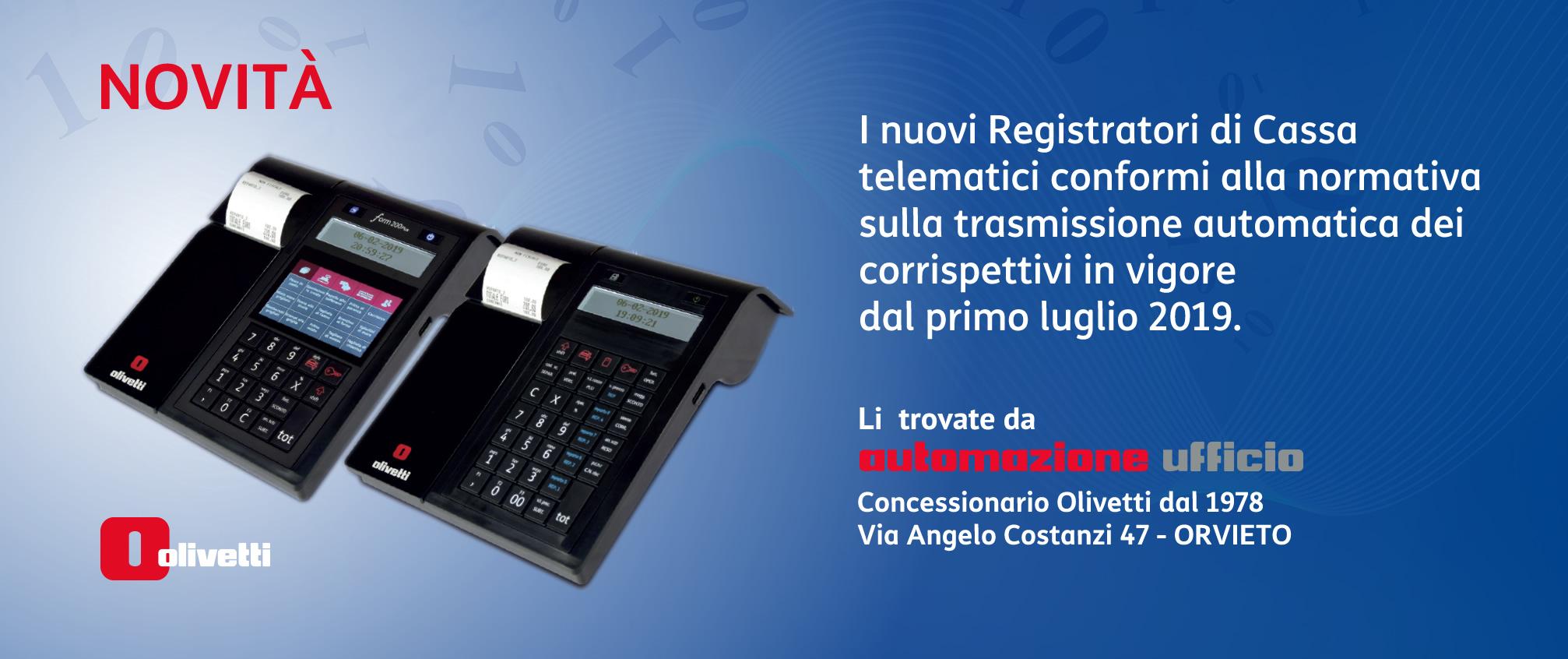 Registratori di cassa telematici - Olivetti